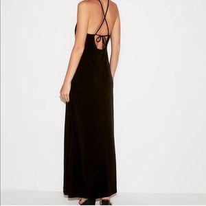 High slit maxi dress | size: M